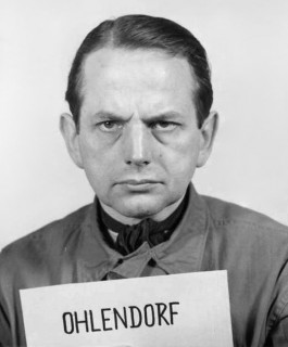 De SS'er Otto Ohlendorf in Neurenberg