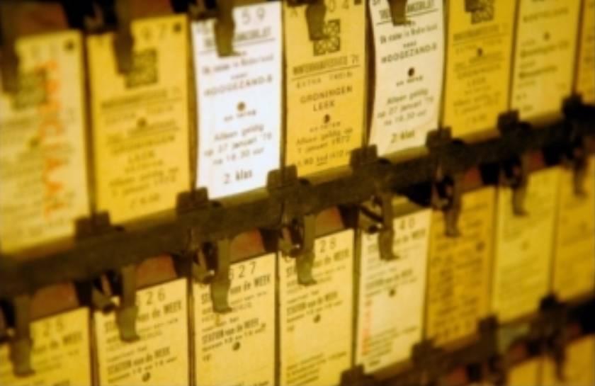 Oude toegangskaartjes (Spoorwegmuseum)