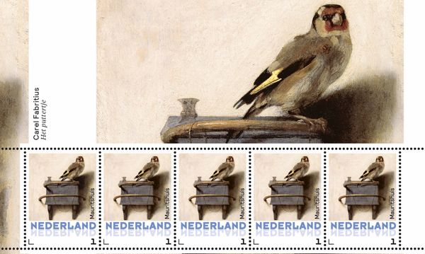 Postzegel met daarop 'Het Puttertje' van Fabricius (PostNL)