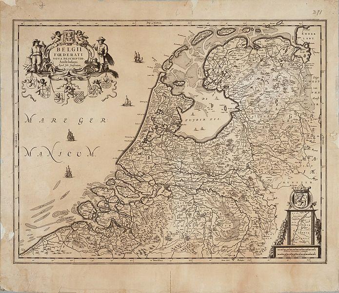 Overzichtskaart van de Republiek der Zeven Verenigde Provinciën - Johannes Janssonius