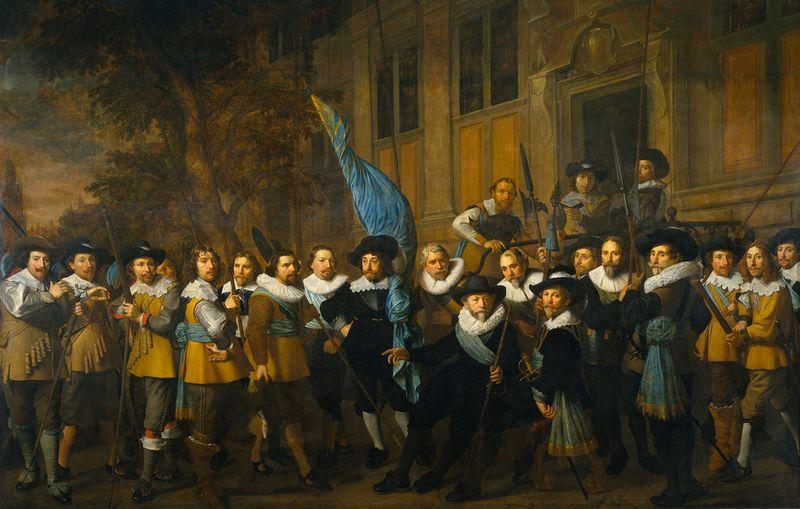 Schutterij - Schutters van de compagnie van kapitein Jan Claesz Vloos - Nicolaes Eliasz Pickenoy, 1642 (Rijksmuseum Amsterdam)
