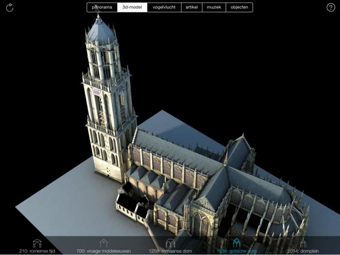 3D-maquette van de Domkerk vóór de tornado.