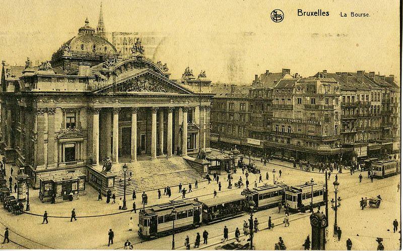 Oude foto van de beurs van Brussel - cc.jpg