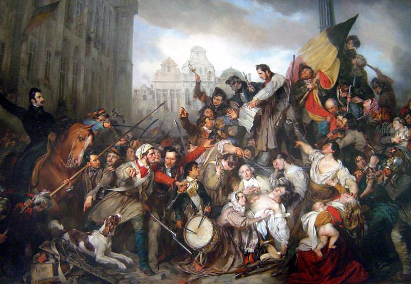 Tafereel van de Septemberdagen 1830 op de Grote Markt te Brussel - Gustave Wappers