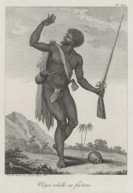Een opstandige slaaf. Gravure naar de tekening van J.G. Stedman (1744-1797).