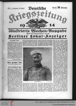 Deutsche Kreigszeitung, 1914