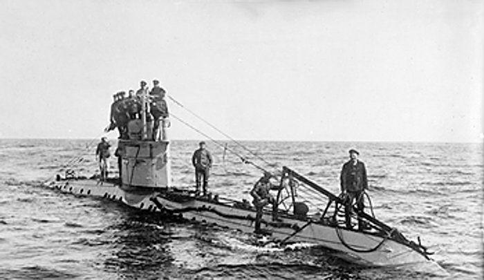Duitse onderzeeër tijdens de Eerste Wereldoorlog