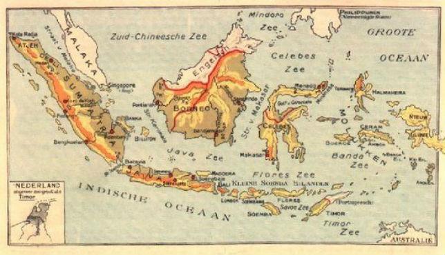 Nederlands-Indië, oude kaart