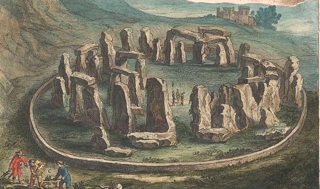 Stonehenge uit de atlas van Blaeu, 1645