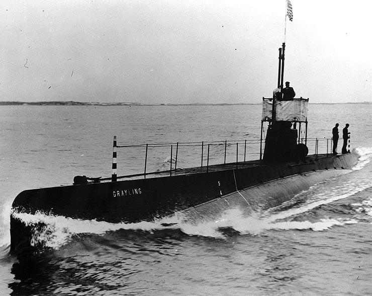 Amerikaanse duikboot, de USS Grayling, 1909