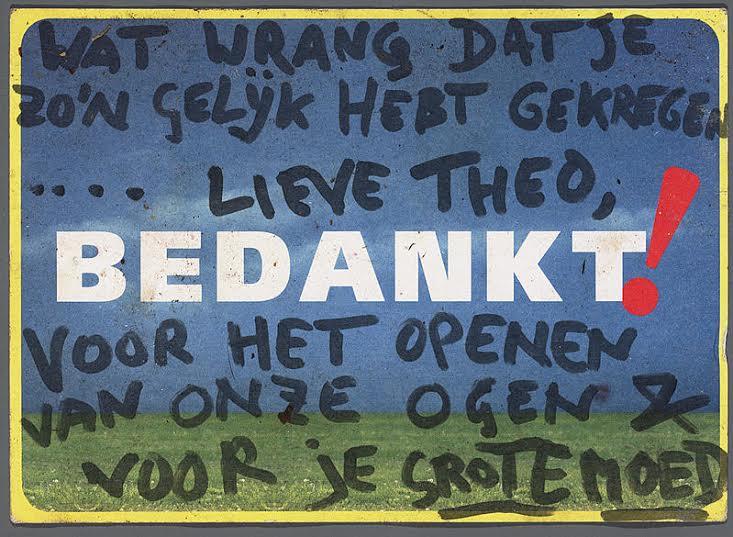 BEDANKT-brief Theo van Gogh