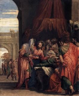 Jezus en de dochter van Jaïrus - Paolo Veronese, 1546