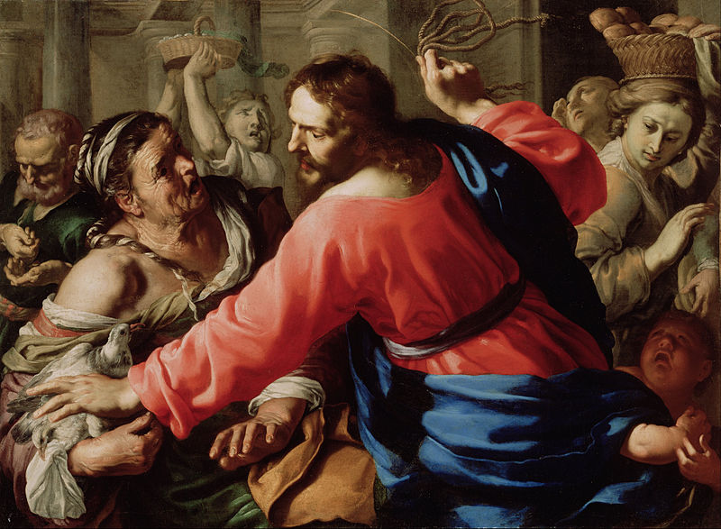 Jezus in de tempel - Bernardino Mei, ca. 1655