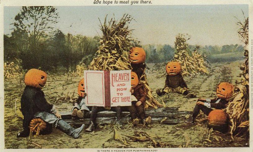 Oude Halloween-kaart - Woodruff House in Ohio, 1901