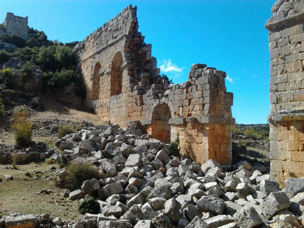 Ruïne van een Romeins viaduct
