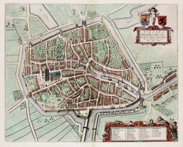 Zierikzee op een 17e-eeuwse kaart van Blaeu