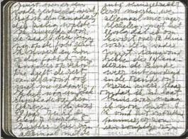 Het 'kleine dagboekje van juffrouw Mulder', één van de bronnen in het boek.