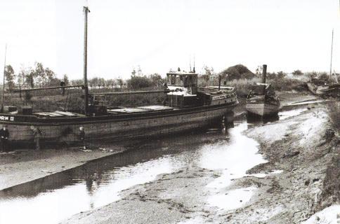 Het Apeldoorns Kanaal werd na de oorlog leeggepompt om gezonken schepen te kunnen bergen. Daarbij werd een 'reusachtige verzameling' paling gevangen.