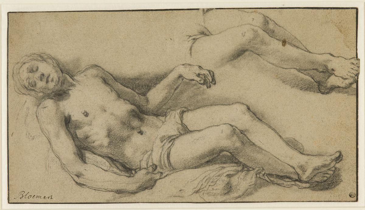 Studie voor de dode Christus, ca. 1625 - Abraham Bloemaert (1566-1651) - Boijmans Van Beuningen