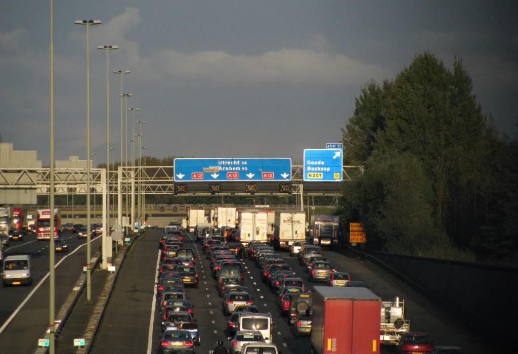 A12 bij Gouda