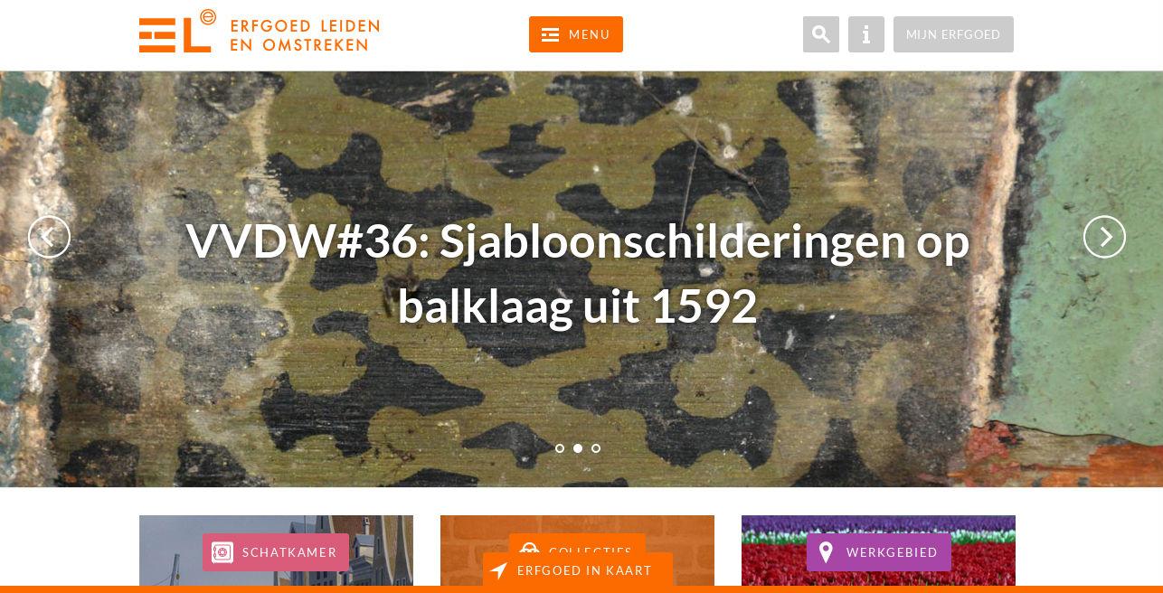De website van Erfgoed Leiden en Omstreken