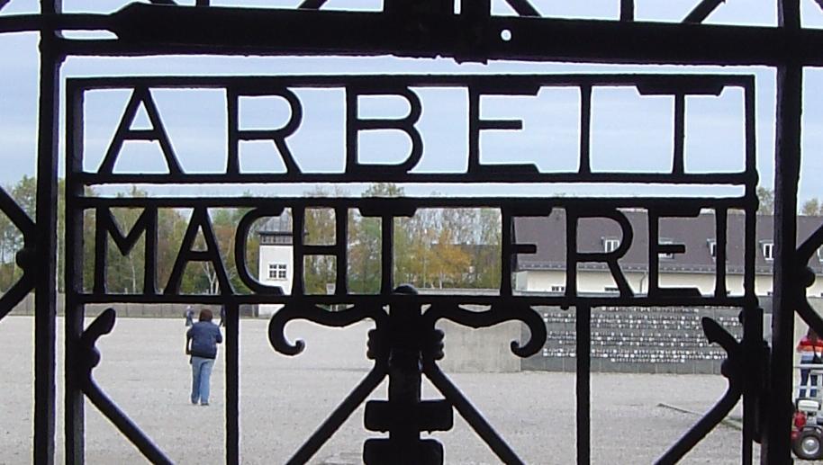Gietijzeren poort van Dachau - cc