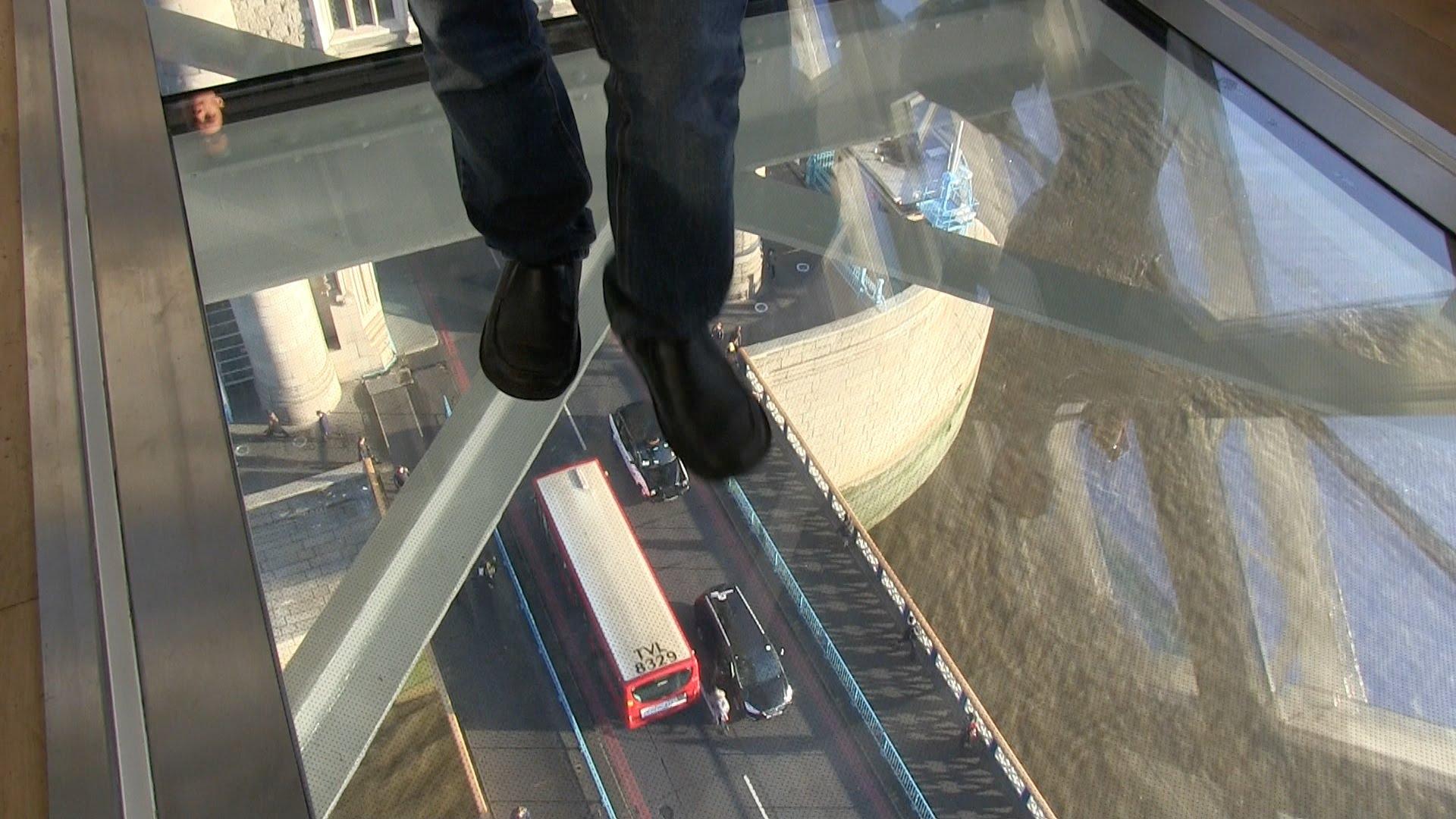 Glazen vloer van de Tower Bridge