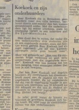 Koekoek en zijn onderhuurders - De Waarheid - 30 aug 1965 (Delpher)