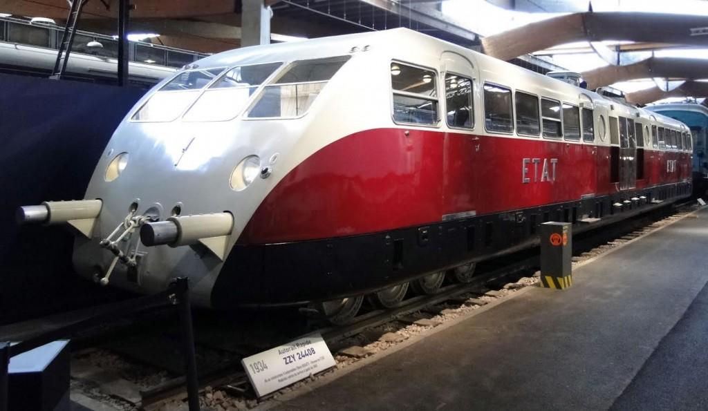 De laatste Autorail Bugatti in Cité du Train, Mulhouse (foto Franky De Witte)