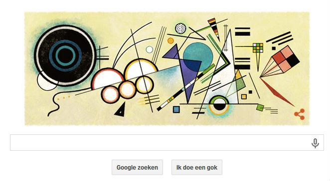 Google Doodle ter ere van Wassily Kandinsky