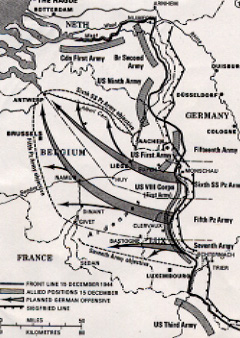 Het Duitse plan met de aanval van de drie legers