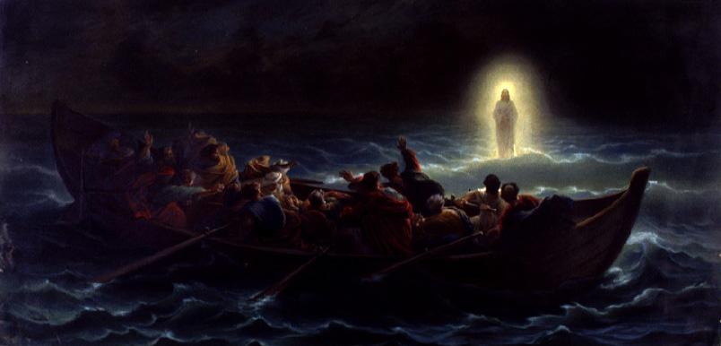 Le Christ marchant sur la mer - Amédée Varint
