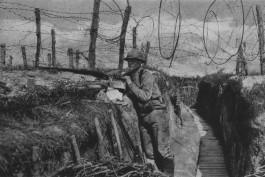 Loopgraaf uit de Eerste Wereldoorlog
