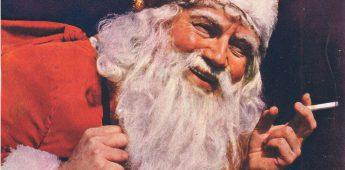 Sigaretjes roken met Santa Claus