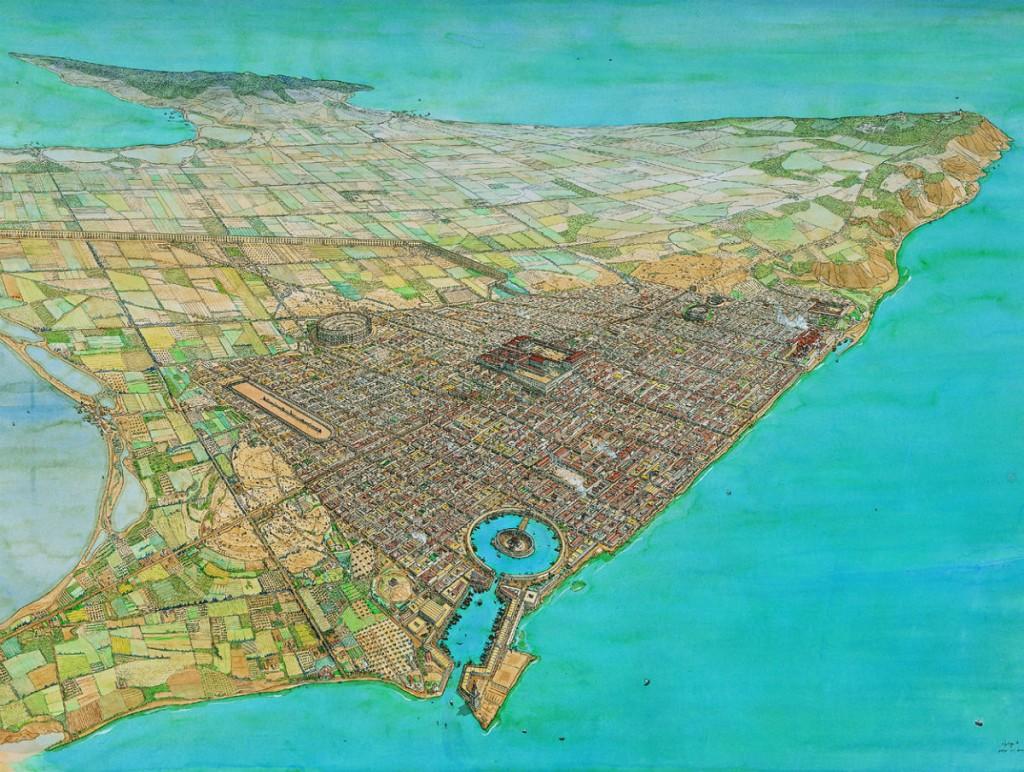 Romeins Carthago door Jean Claude Golvin (Agence de Mise en Valeur du Patrimoine et Promotion Culturelle, Tunis)