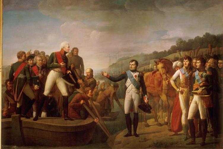 Napoleon en Alexander I gaan uit elkaar in Tilsit in 1807, ca. 1810. Olieverf op doek © State Hermitage Museum, St Petersburg