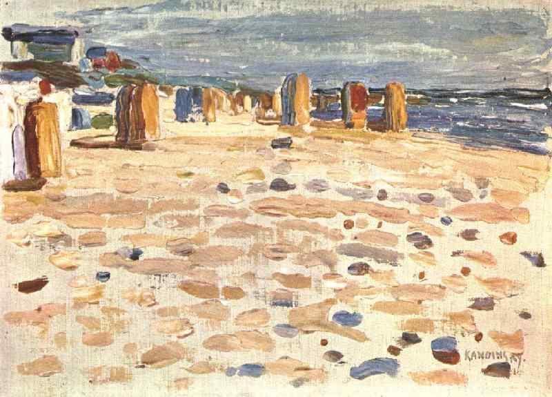 Strandstoelen in Holland - Kandinsky, 1904