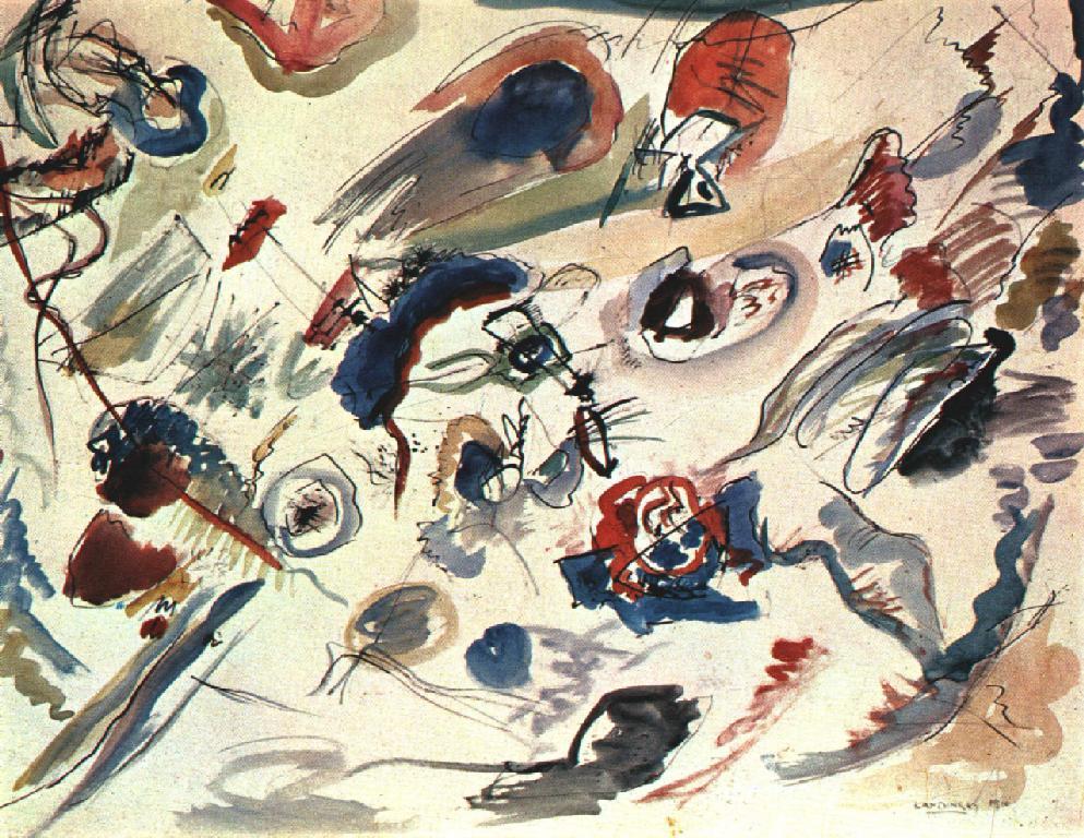 Zonder titel (eerste abstracte aquarel), 1910