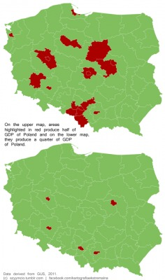 Bron: op basis van gegevens van GUS, het Poolse bureau voor de statistiek, uit 2011.
