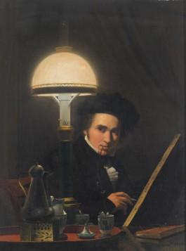 Het zelfportret van Petrus van Schendel (Dordrechts Museum)
