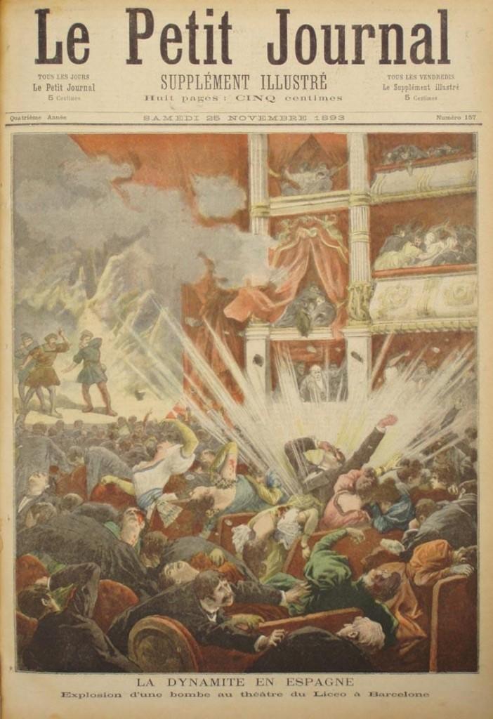 Anarchistische bomaanslag in het Liceu Theater in Barcelona, 1893