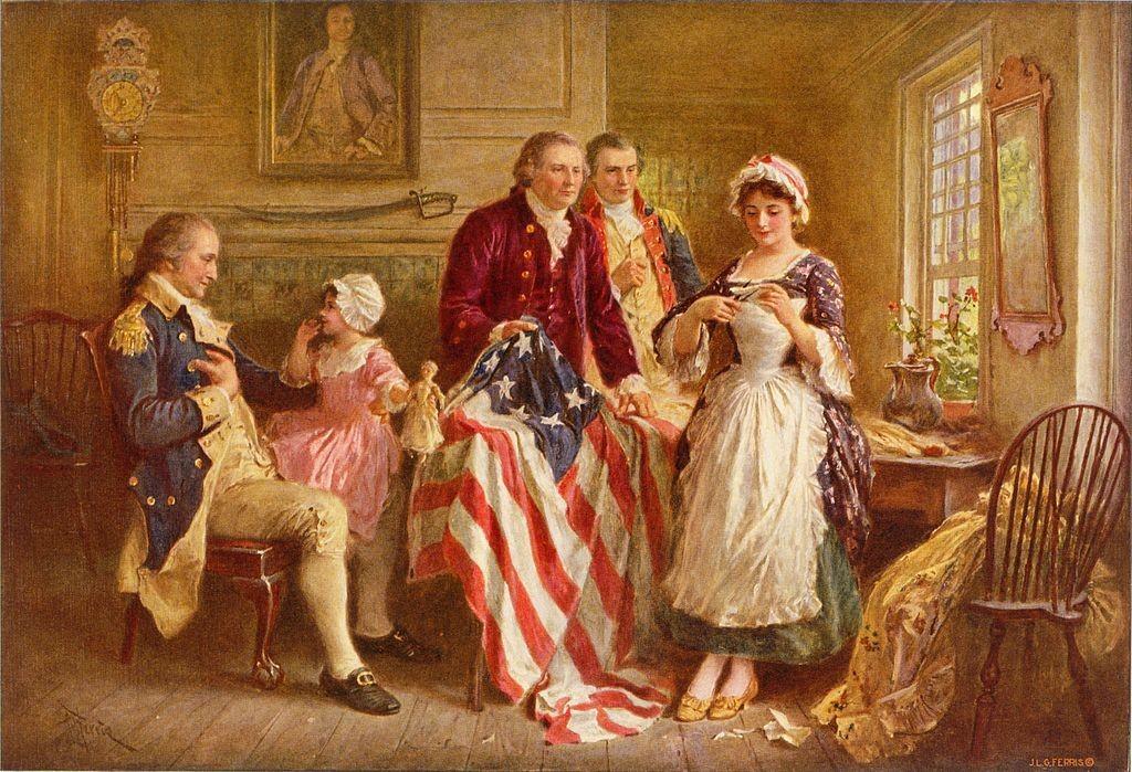 Betsy Ross, 1777 -  (Jean Leon Gerome Ferris,ca. 1920)