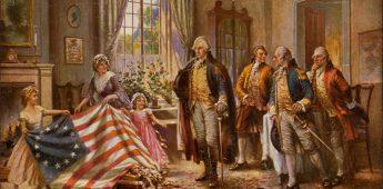Betsy Ross en de vlag van Amerika