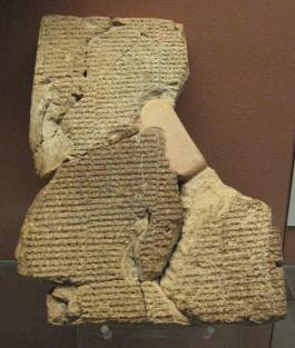 Brokstukken van het Atrahis-epos in het British Museum - cc