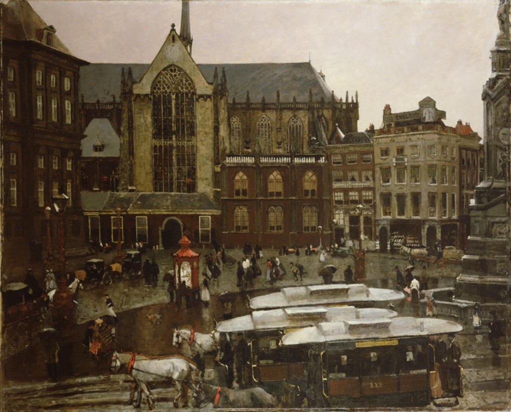 De Dam, George Hendrik Breitner, 1898 185 x 219 cm, collectie Amsterdam Museum