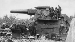 Dikke Bertha, Duitse houwitser die tijdens de Eerste Wereldoorlog werd gebruikt - cc.