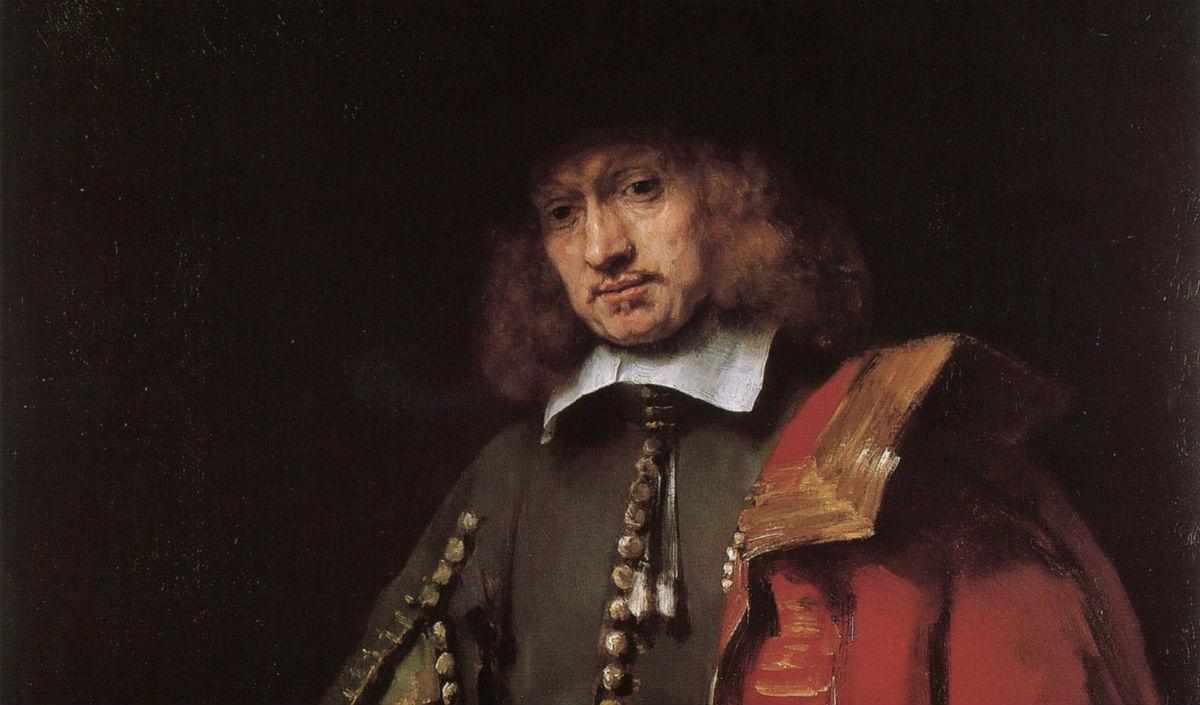Jan Six - Rembrandt,1654 (detail)