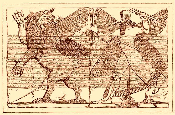 Marduks gevecht met Tiamat - cc