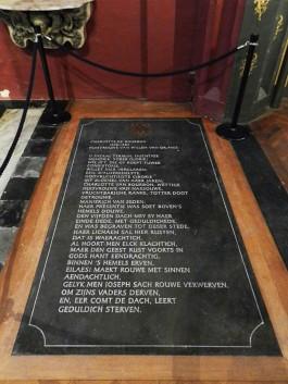 Nieuwe grafsteen voor derde vrouw Willem van Oranje