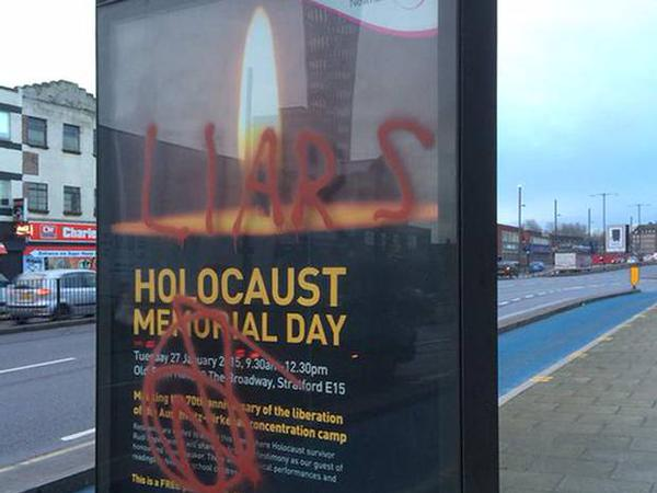 Posters 'Holocaust Memorial Day' beklad